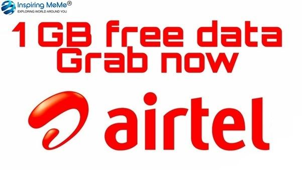 free 1gb data airtel