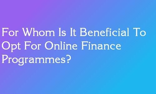 online finance programs