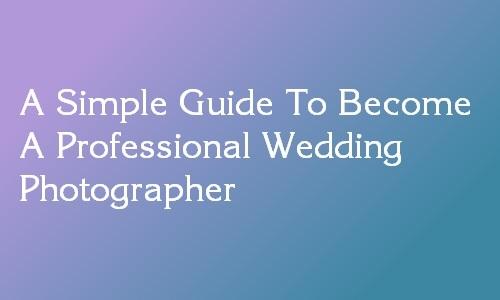 career in wedding photography