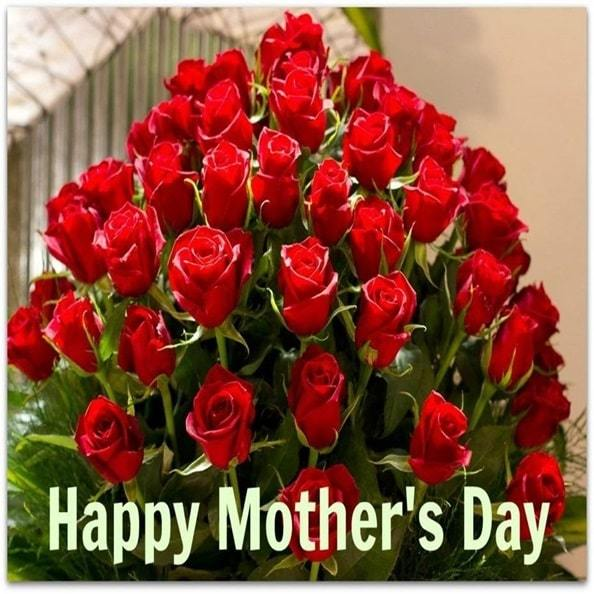 happy mothers day with flowers images