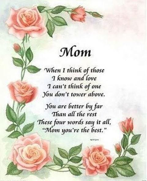 love you mum poem image