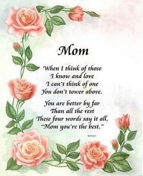 love you mum poem image