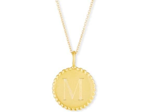 personalized vast gold pendant