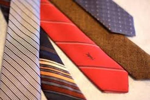 special tie made with his initial name