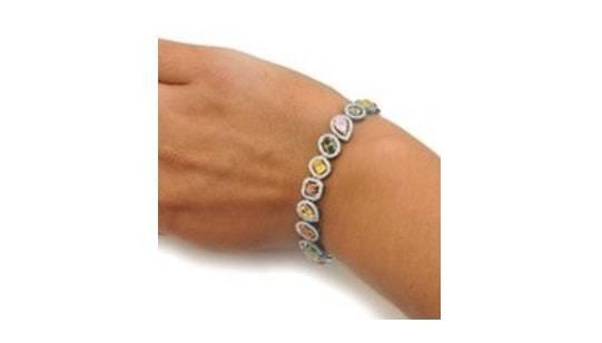colored intense diamonds bracelet