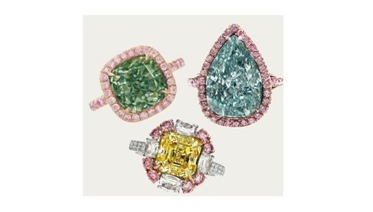 fancy diamond colored rings