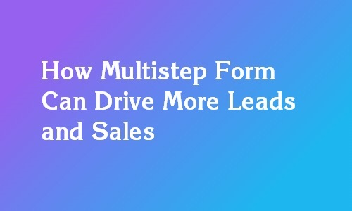 multi-step forms for lead generation