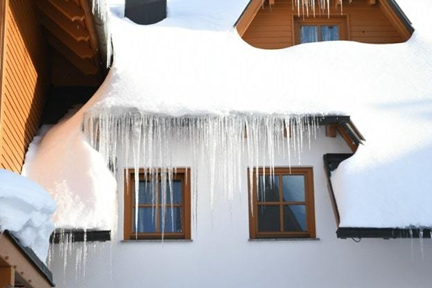 common types of wintertime roof damage