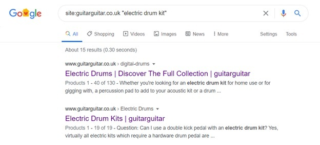 google search result for keyword 'electric drum kit'