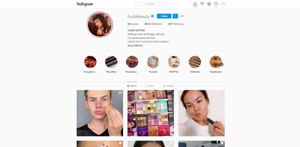 user instagram profile
