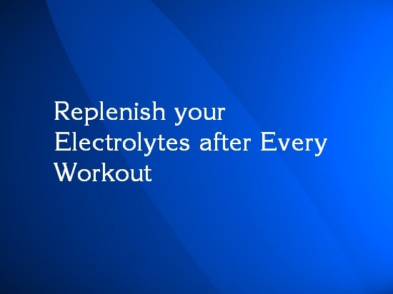 electrolytes before or after workout