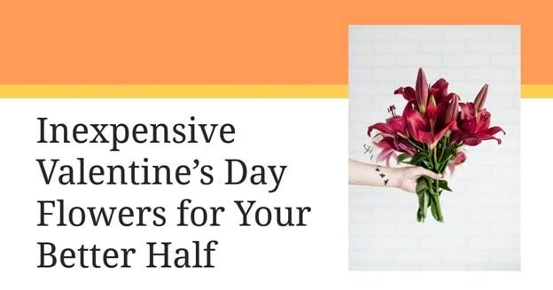 types of flowers for valentines day