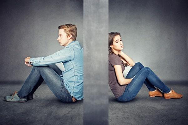 boyfriend and girlfriend break up