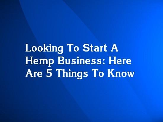 starting a hemp business