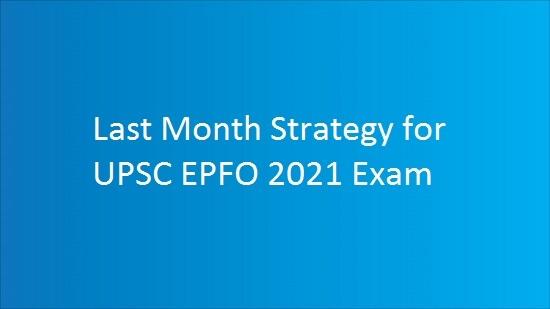 upsc epfo preparation