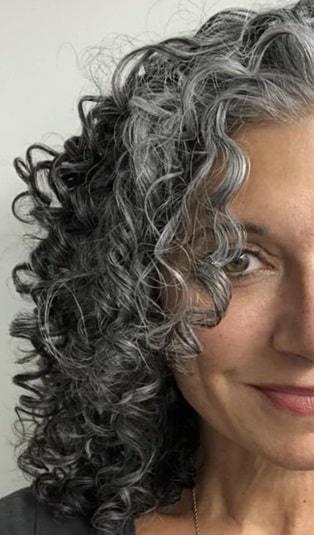 gray curls