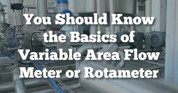 rotameter variable area flow meter