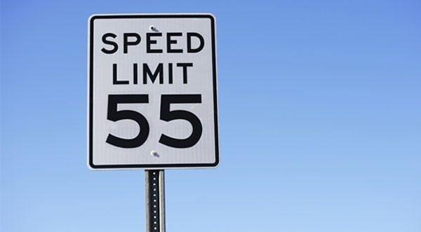 speed limit board
