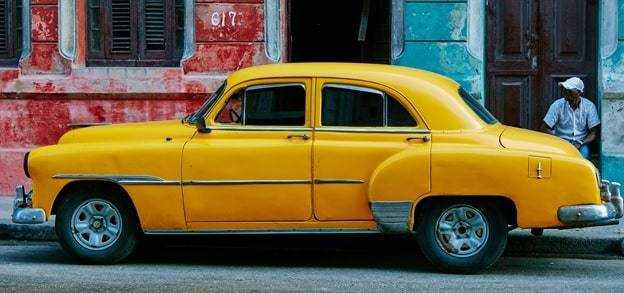 a yellow color car
