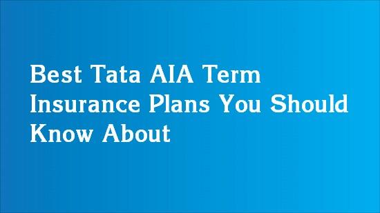 tata aia term insurance