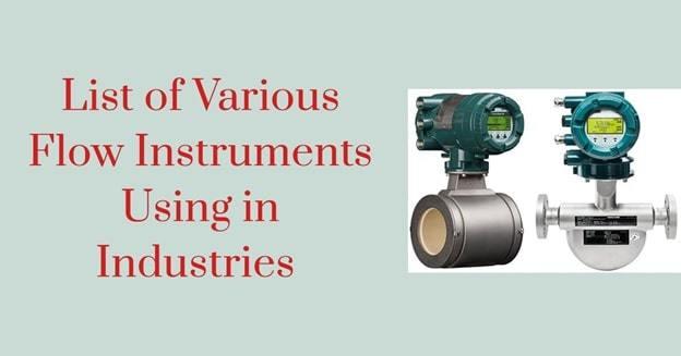 types of flow meters